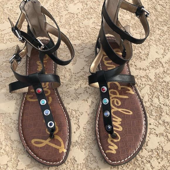 228a64d51bfc Sam Edelman Genevieve Black Gladiator Sandals 8. M 5c844aa94ab633a5554d81bf